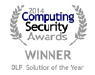 Endpoint Protector 4 is Winner in the DLP Solution of the Year category at the Computing Security Awards 2014