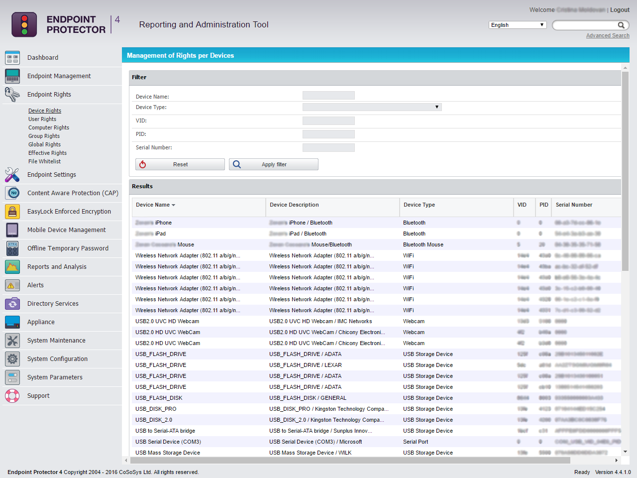 Endpoint Protector 4 - Device Rights