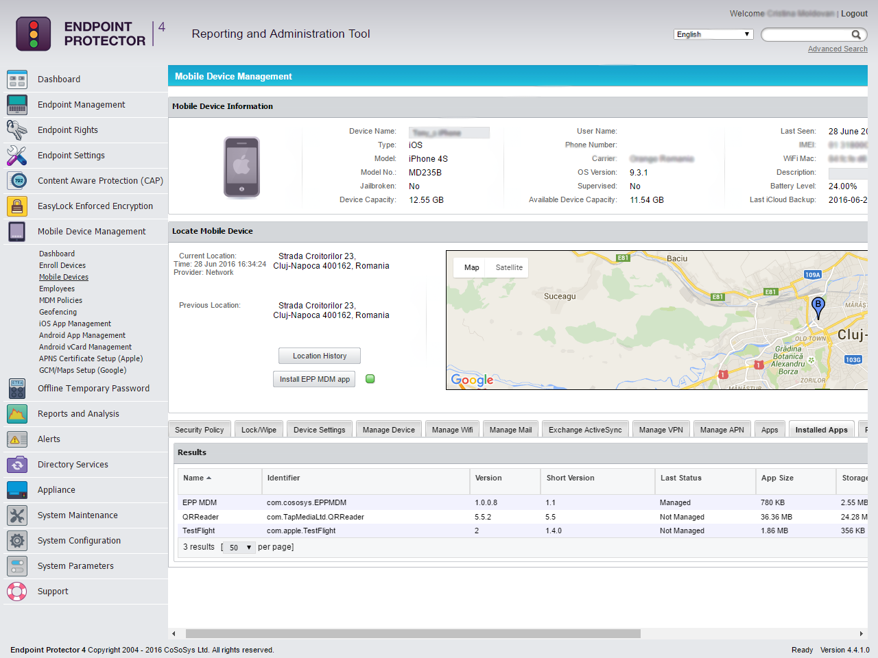 Endpoint Protector 4 - Mobile Device Management