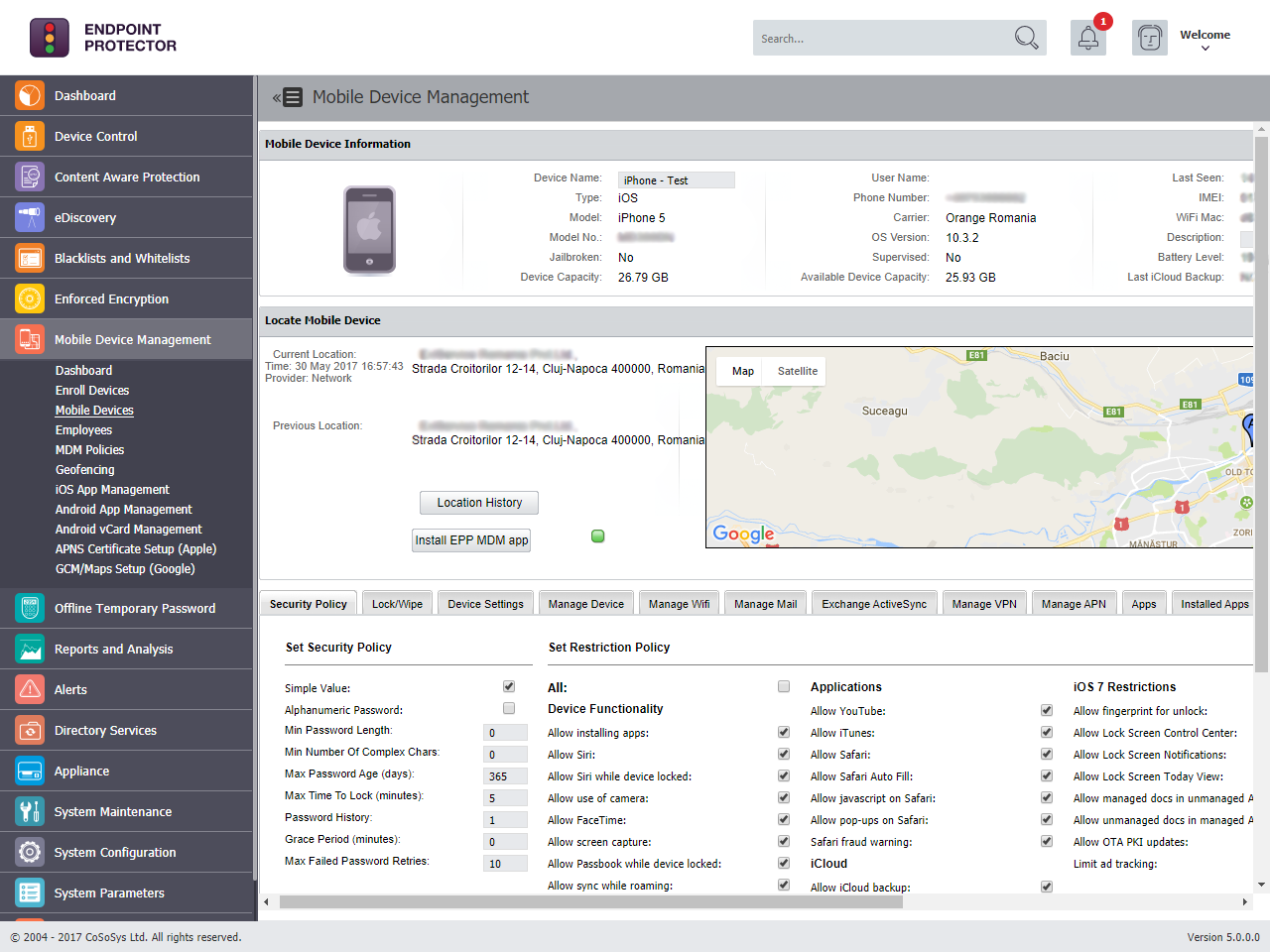 Endpoint Protector - Mobile Device Management