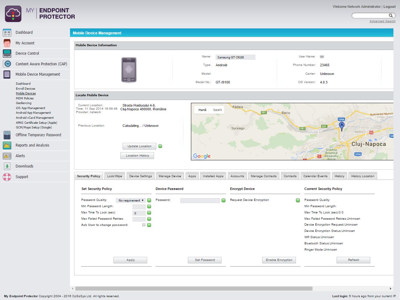 Mobile Device Management - Verwalten der Gerätesicherheitsrichtlinien für Android