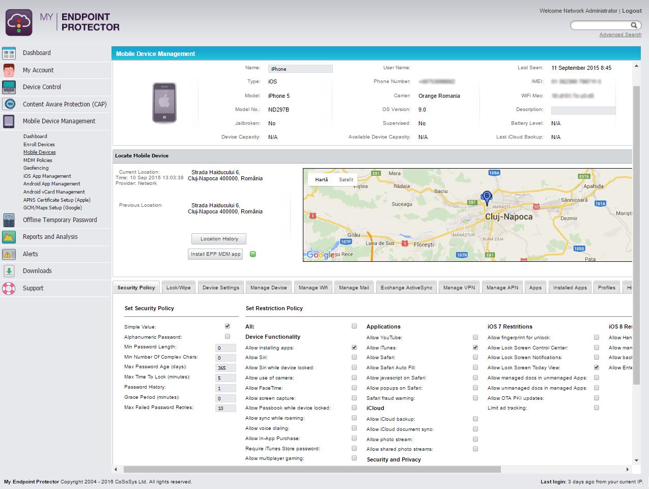 Mobile Device Management - Verwalten Sie Sicherheitseinstellungen für iOS